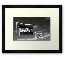 Waving flags Framed Print
