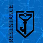 Ingress Resistance Logo on Map by oindypoind