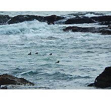 Cold day off Newport Photographic Print