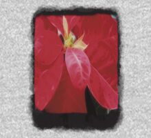 Mottled Red Poinsettia 2 Blank P4F0 One Piece - Short Sleeve