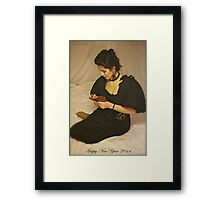 Sweet Dreams With Queen Adel. Happy New Year 2014. Tribute To Annie Lenox. Framed Print