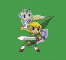 Link and Zelda by kyubara