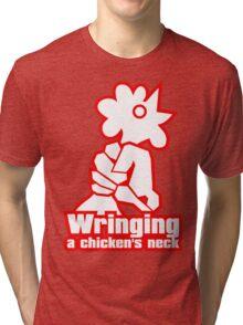 Wringing a chicken's neck Tri-blend T-Shirt