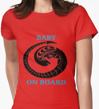 Alien chest burster - baby on board (blue) Womens Fitted T-Shirt
