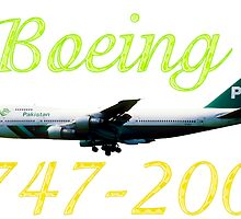 PIA Pakistan International Airlines Boeing 747-200 w text by boogeyman