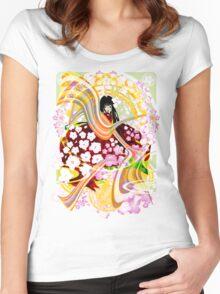 SAKURA Women's Fitted Scoop T-Shirt
