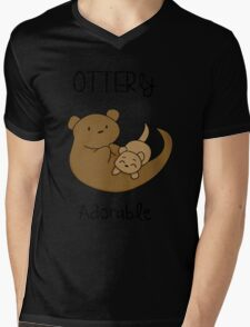 OTTERly Adorable! [Apparel & Transparent Stickers] Mens V-Neck T-Shirt