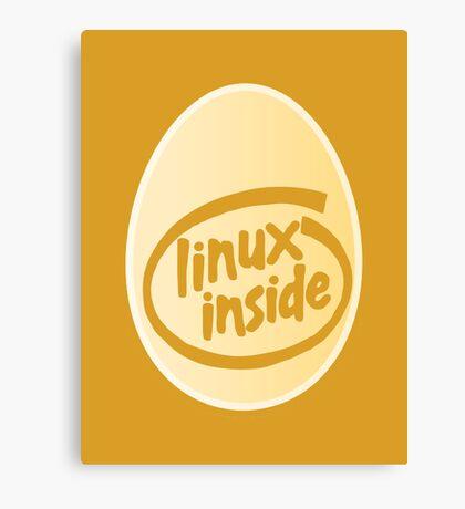 LINUX INSIDE Canvas Print