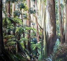 Boys in the forest by Ken Tregoning