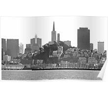 San Francisco Skyline - B&W Poster