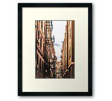 Boston Wrought Iron Balconies Framed Print