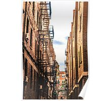 Boston Wrought Iron Balconies Poster