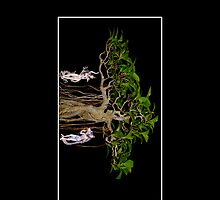 Bonsai Tree and Statue Gods Cellphone Case 28 by Gotcha29