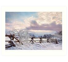 Road to Salem - Winter Landscape Art Print