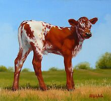 Texas Longhorn New Calf by Margaret Stockdale