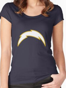 San Diego Chargers Bolt Women's Fitted Scoop T-Shirt