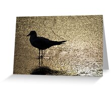 Seagull Statue Greeting Card