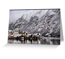Hallstatt Boat Houses - Austria Greeting Card