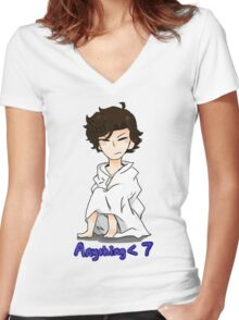 Boring Women's Fitted V-Neck T-Shirt