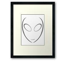 Alien 8 Grey Framed Print
