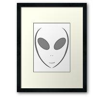 Alien 10 Grey Framed Print