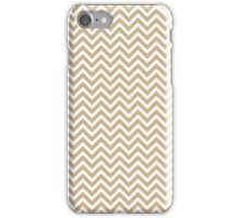 Tan Sand White Chevron Pattern iPhone Case/Skin