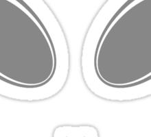 Alien 12 Grey Sticker