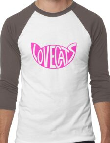 Lovecats - Pink Men's Baseball ¾ T-Shirt