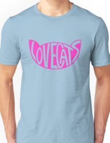 Lovecats - Pink Unisex T-Shirt