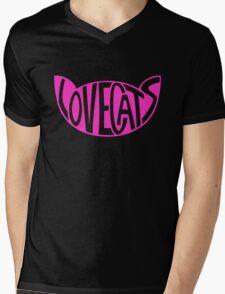 Lovecats - Pink Mens V-Neck T-Shirt