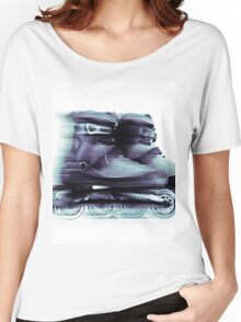 Inline skates Rollerblades Artistic dynamic still ife T-shirt design Women's Relaxed Fit T-Shirt