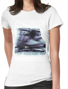 Inline skates Rollerblades Artistic dynamic still ife T-shirt design Womens Fitted T-Shirt