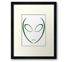 Alien 5 Green Framed Print
