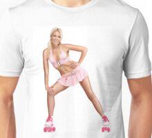 Glamorous Girl on Roller Skates T-shirt design Unisex T-Shirt