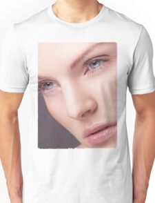 Beautiful Woman Face with Perfect Skin T-shirt design Unisex T-Shirt