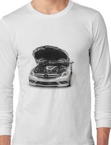 Mercedes-Benz E350 with Open Hood T-shirt design Long Sleeve T-Shirt