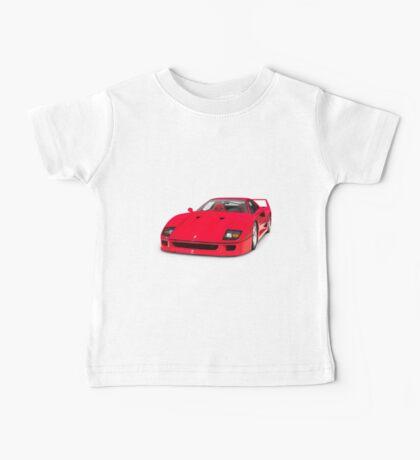 1987 Ferrari F40 Sports Car T-shirt design Baby Tee