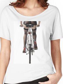 Sexy Woman Riding a Bike T-shirt design Women's Relaxed Fit T-Shirt