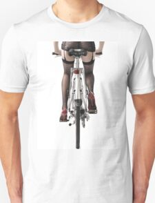Sexy Woman Riding a Bike T-shirt design T-Shirt