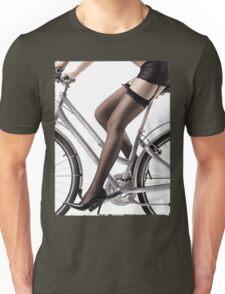 Sexy Woman Riding a Bike T-shirt design Unisex T-Shirt