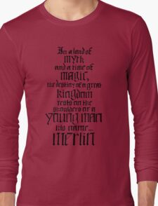 In a Land of Myth... Merlin (black) Long Sleeve T-Shirt