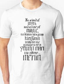In a Land of Myth... Merlin (black) T-Shirt