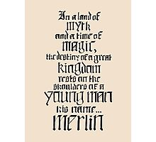 In a Land of Myth... Merlin (black) Photographic Print