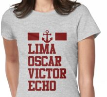 Lima Oscar Victor Echo (Marine) Womens Fitted T-Shirt
