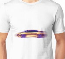Artistic dynamic image of moving blurred car T-shirt design Unisex T-Shirt