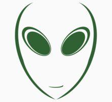 Alien 9 Green Baby Tee