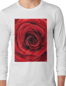 Beautiful Red Rose T-shirt design Long Sleeve T-Shirt