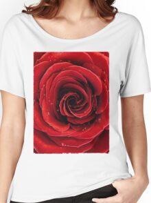 Beautiful Red Rose T-shirt design Women's Relaxed Fit T-Shirt