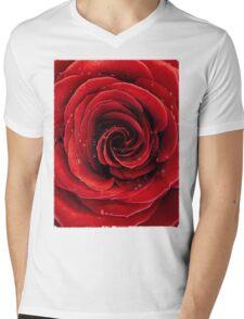Beautiful Red Rose T-shirt design Mens V-Neck T-Shirt