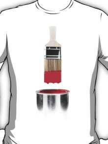 Brush Dipped in Red Paint T-shirt design T-Shirt